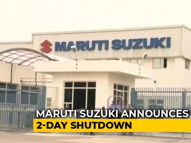 Video: Maruti Suzuki To Shut Down Gurugram, Manesar Plants For 2 Days
