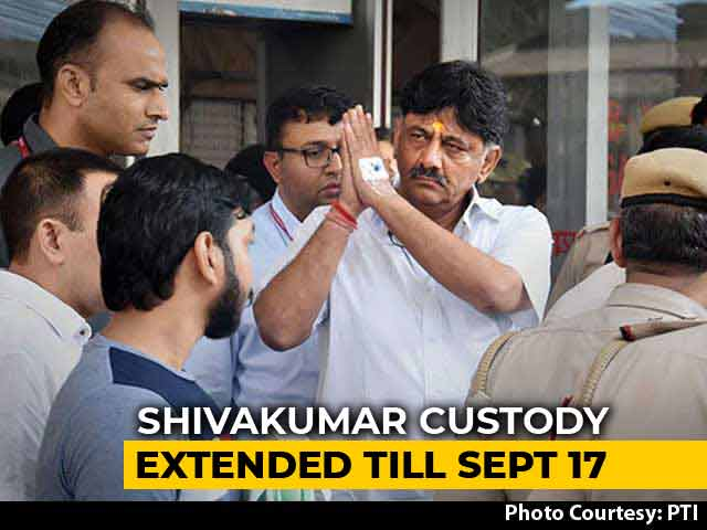 "Video : ""DK Shivakumar's Health First Priority"", Says Court, Extends Custody"