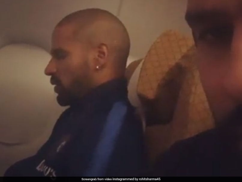 Rohit Sharma Secretly Records Opening Partner Shikhar Dhawan Talking To Himself On Flight. Watch