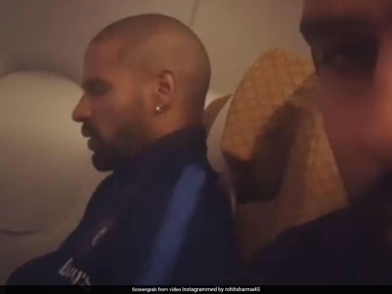Rohit Sharma Secretly Records Opening Partner Shikhar Dhawan Talking To Himself On Flight. Watch