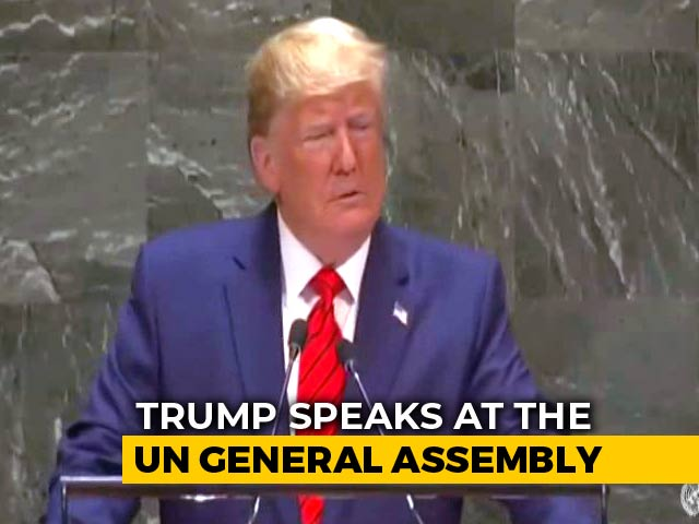 "Video : ""Future Belongs To Patriots, Not Globalists"": Donald Trump Tells UN"