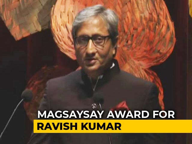 "Video : ""Not All Battles Fought For Victory"": NDTV's Ravish On Magsaysay Award"