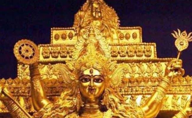 Durga Puja 2019: সন্তোষ মিত্র স্ক্যোয়ারে সোনার 'মা', এন্টালিতে রূপোর গয়না