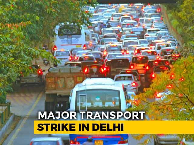 Video: Delhi Transport Union To Go On A Strike On September 19