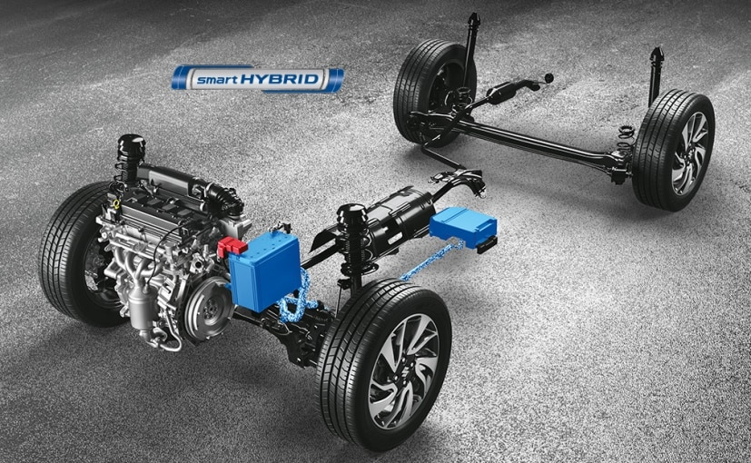 The Smart Hybrid setup has an Integrated Starter Generator, Lead battery, & a compact Lithium-Ion battery