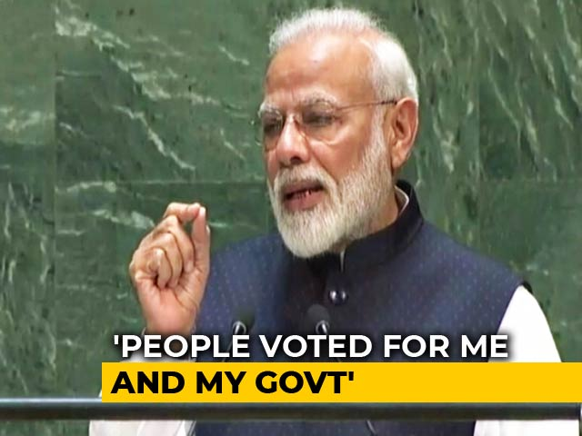 Video : Watch Full Speech Of PM Modi's Address To The UN General Assembly