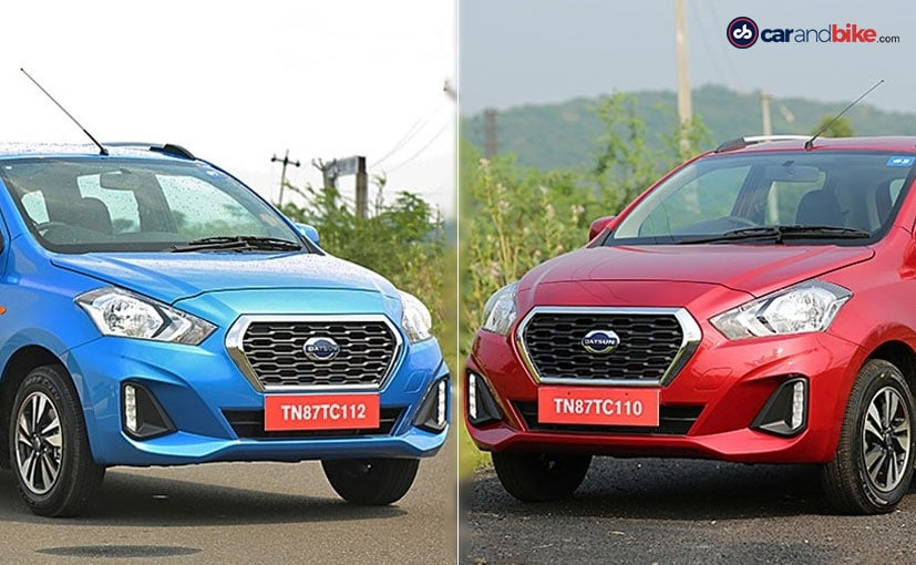 Both Datsun GO CVT and GO+ CVT will only be available in the top two T and T (O) variants