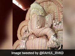 महाराष्ट में 1000 और 500 के पुराने नोटों के बनाए गए भगवान गणेश, देखें Photos