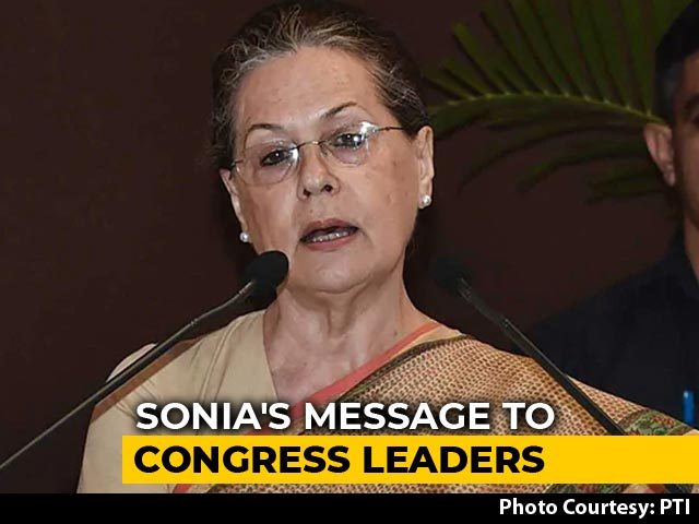 "Video : ""Being Aggressive On Social Media Not Enough"": Sonia Gandhi To Congress"