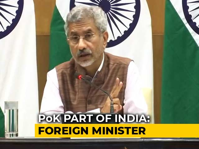 Video : PoK Part Of India, Expect Jurisdiction Over It One Day: S Jaishankar