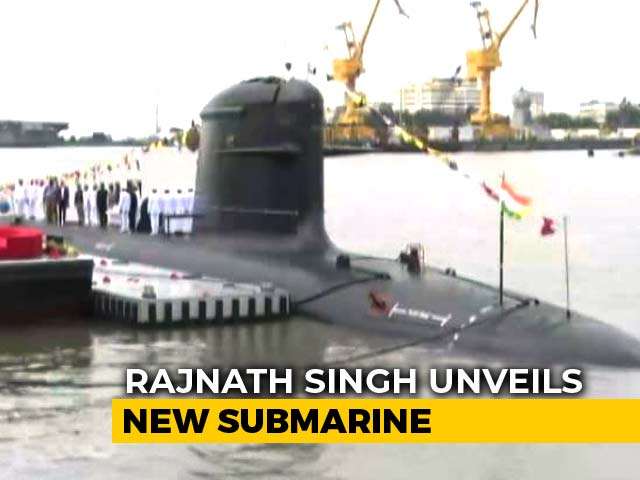 Video : Khanderi, India's 2nd Scorpene Submarine, Commissioned By Rajnath Singh