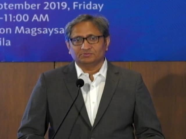 """Video : """"Media Today Not Interested Or Invested In Journalism"""": Ravish Kumar's Magsaysay Speech"""