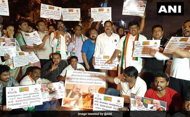 Protests Erupt In Karnataka Over Congress Leader DK Shivakumar's Arrest