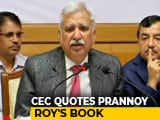"Video : ""EVM Machines Can't Be Tampered With"": Election Commissioner Quotes NDTV's Prannoy Roy"