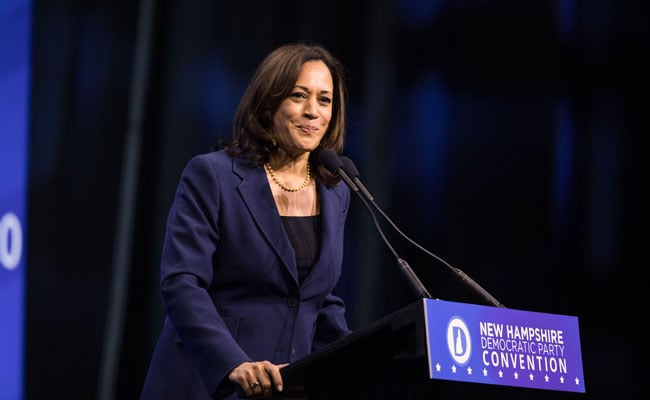 Kamala Harris Criticized For Laughing At Remark On Trump, Apologises