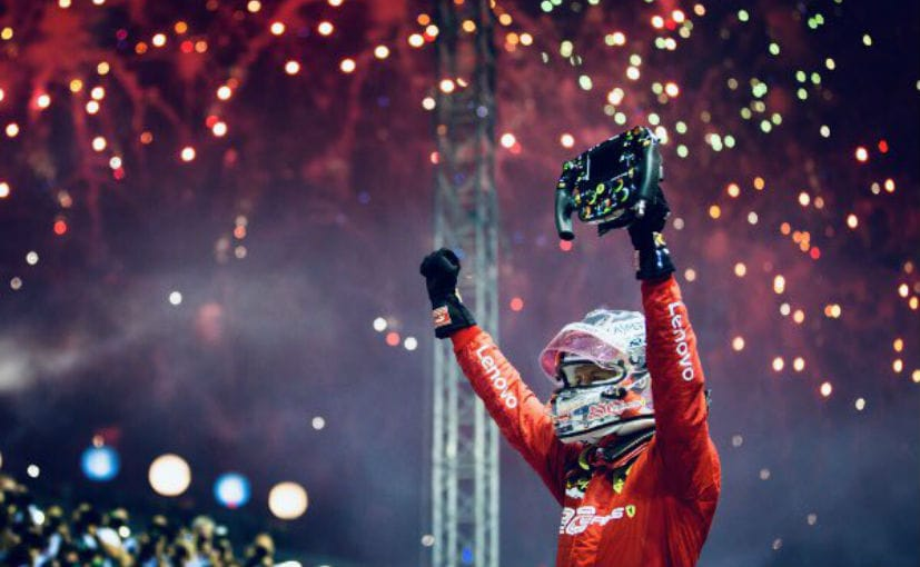 F1: Vettel Beats Leclerc To Win Singapore GP; His First Win In Over A Year