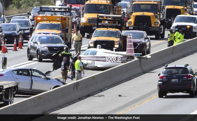'It Was In Front Of Us': Plane Crashes On US Highway, Hits Vehicle