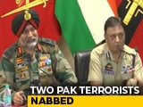 "Video : ""Pak Desperate To Push Terrorists Into J&K, 2 With LeT Ties Caught"": Army"