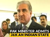 "Video : ""Indian State"" Jammu And Kashmir, Says Pak Minister At UN Rights Body"