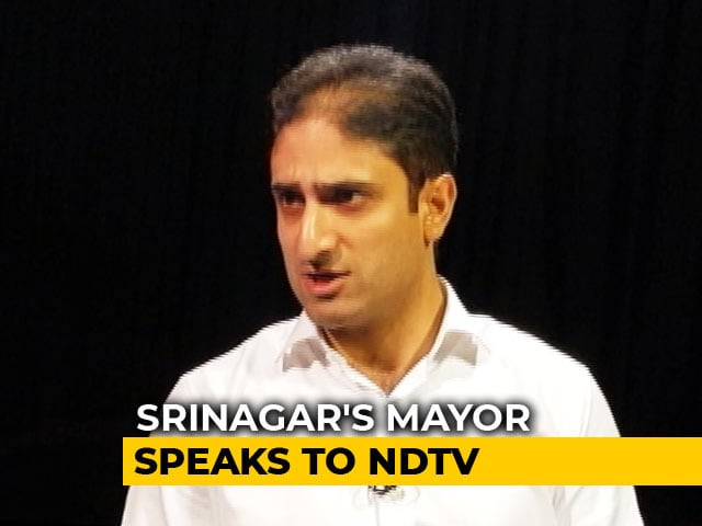 "Video : ""No Bodies Doesn't Mean All Normal"": Srinagar Mayor Slams Kashmir Move"