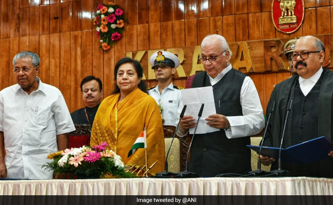 Arif Mohammad Khan Sworn In As Kerala Governor