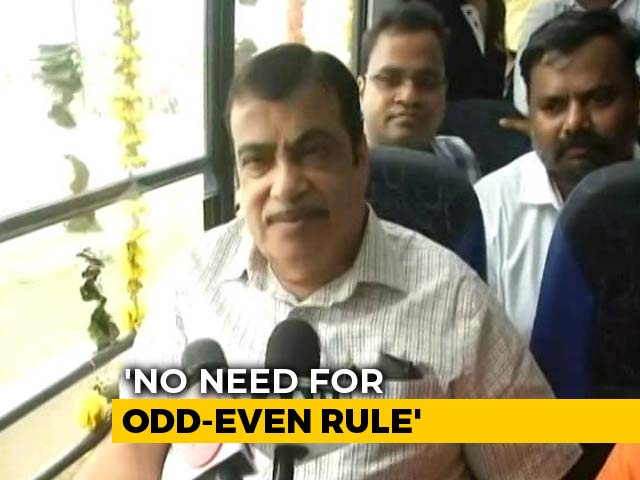 "Video : ""No Such Need"": Nitin Gadkari On Delhi's Odd-Even Scheme"