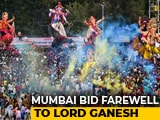 Video : Mumbai Gives Ganesha A Grand Send-Off, Over 35,000 Idols Immersed