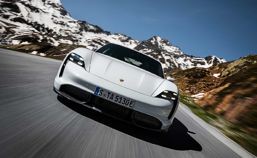 The Porsche Taycan Turbo is the automaker's first fully-electric sport car