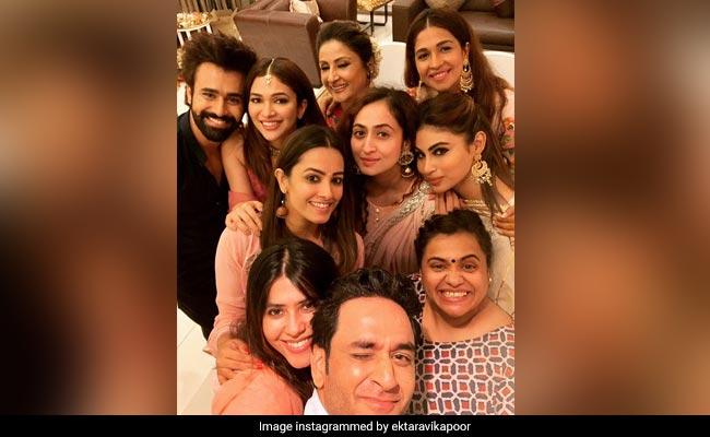 On Ganesh Chaturthi, Ekta Kapoor Invited Mouni Roy, Anita Hassanandani And Others Over To Celebrate