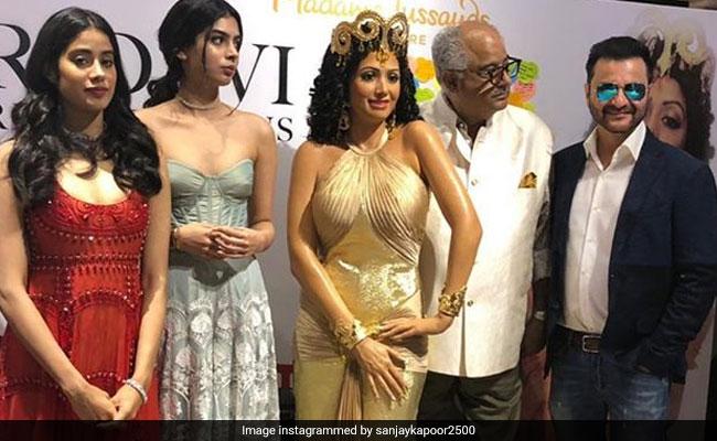 Sridevi Forever Janhvi And Khushi Unveil Hawa Hawai Wax Statue At Madame Tussauds Singapore