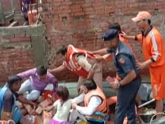 On Camera, Wall Collapses Injuring Varanasi Official During Flood Relief