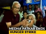 Video : 'Save Narmada' Activist Medha Patkar Ends Hunger Strike After Talks