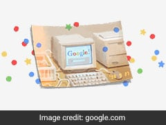 Google Birthday: For 21st Birthday, Doodle Of Throwback Box Computer With Timestamp