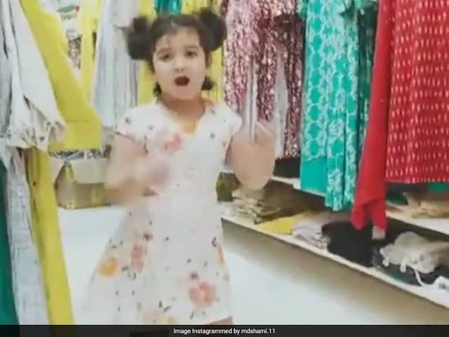 Mohammed Shami Says the is no match of his daughters dance, posts Video