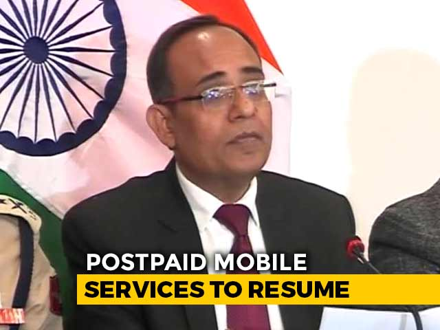 Video : All Postpaid Mobile Phones To Be Restored In J&K From Monday