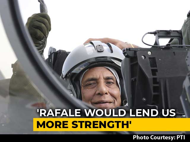 Video : Rajnath Singh Describes His Experience Of Flying On India's First Rafale
