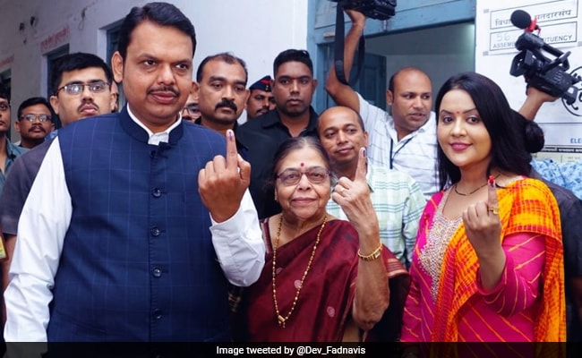 Maharashtra Assembly Election 2019: Devendra Fadnavis Casts Vote In Nagpur
