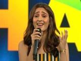 "Video: Watch: Dhvani Bhanushali Performs ""Leja Re"" At Banega Swasth India Campaign"