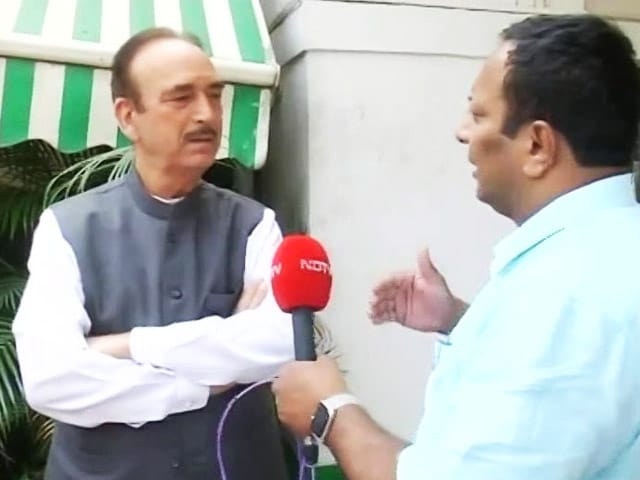"""Video : """"Secular Parties Should Unite To Form Government In Haryana"""": Ghulam Nabi Azad"""