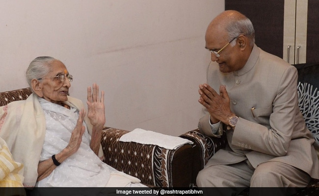President Kovind Meets PM Modi's Mother Hiraba, Spends 30 Minutes With Her