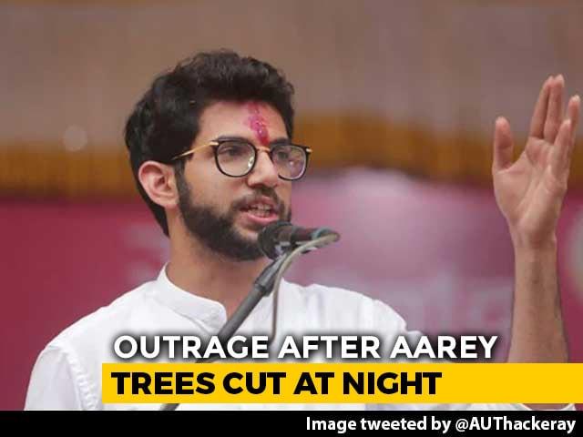 "Video : ""In Cover Of The Night, Shame"": Aaditya Thackeray On Aarey Tree-Cutting"