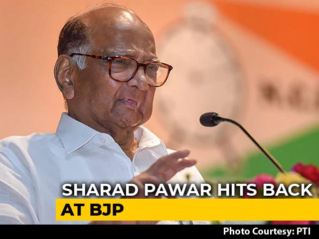 "Video : ""<i>Abhi To Main Jawan Hoon</i>"": Sharad Pawar Hits Back At BJP Digs Over Age"