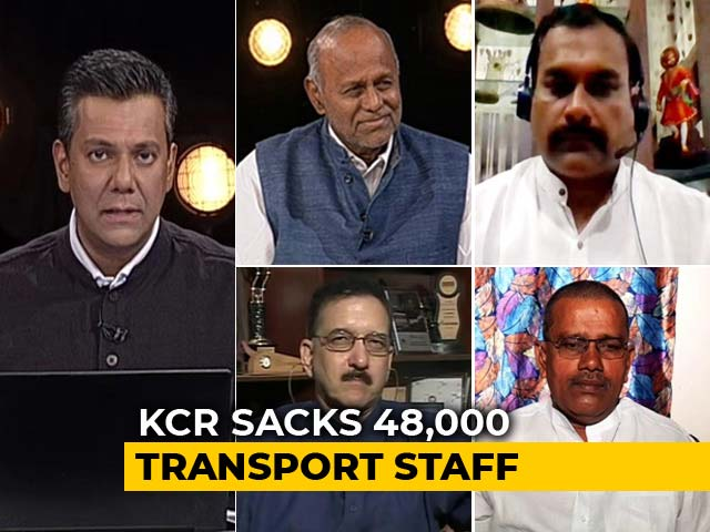 Video : 48,000 Telangana Road Transport Workers Sacked Over Strike
