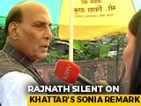 Video : Rajnath Singh Says Poor Language Cost Congress, No Comment On ML Khattar