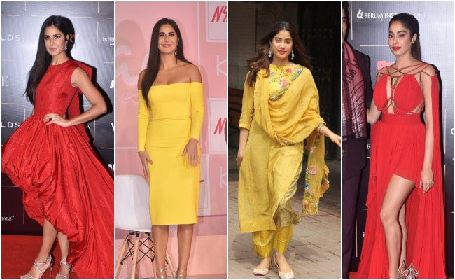 First In Red, Now In Yellow, Katrina Kaif And Janhvi Kapoor Set Style Goals
