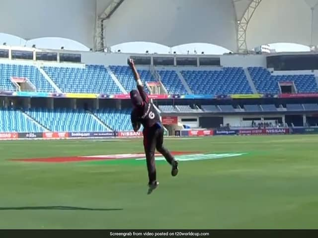 Watch: UAE's Rameez Shahzad does a Ben Stokes in T20 World Cup qualifier