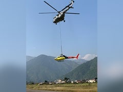 2 Air Force Choppers Airlift Helicopter After It Crashed Near Kedarnath