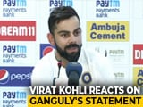 Video : Why Kohli Laughed When Asked About Ganguly Seeking Clarity On Dhoni