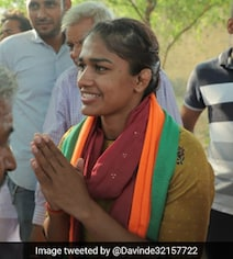 BJP's Babita Phogat Leading In Early Trends Of Counting In Haryana