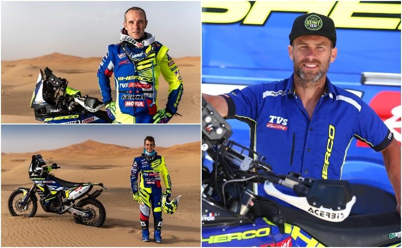 Clockwise L-R: Johnny Aubert, Michael Metge and Lorenzo Santolino set for 2019 Morocco Rally